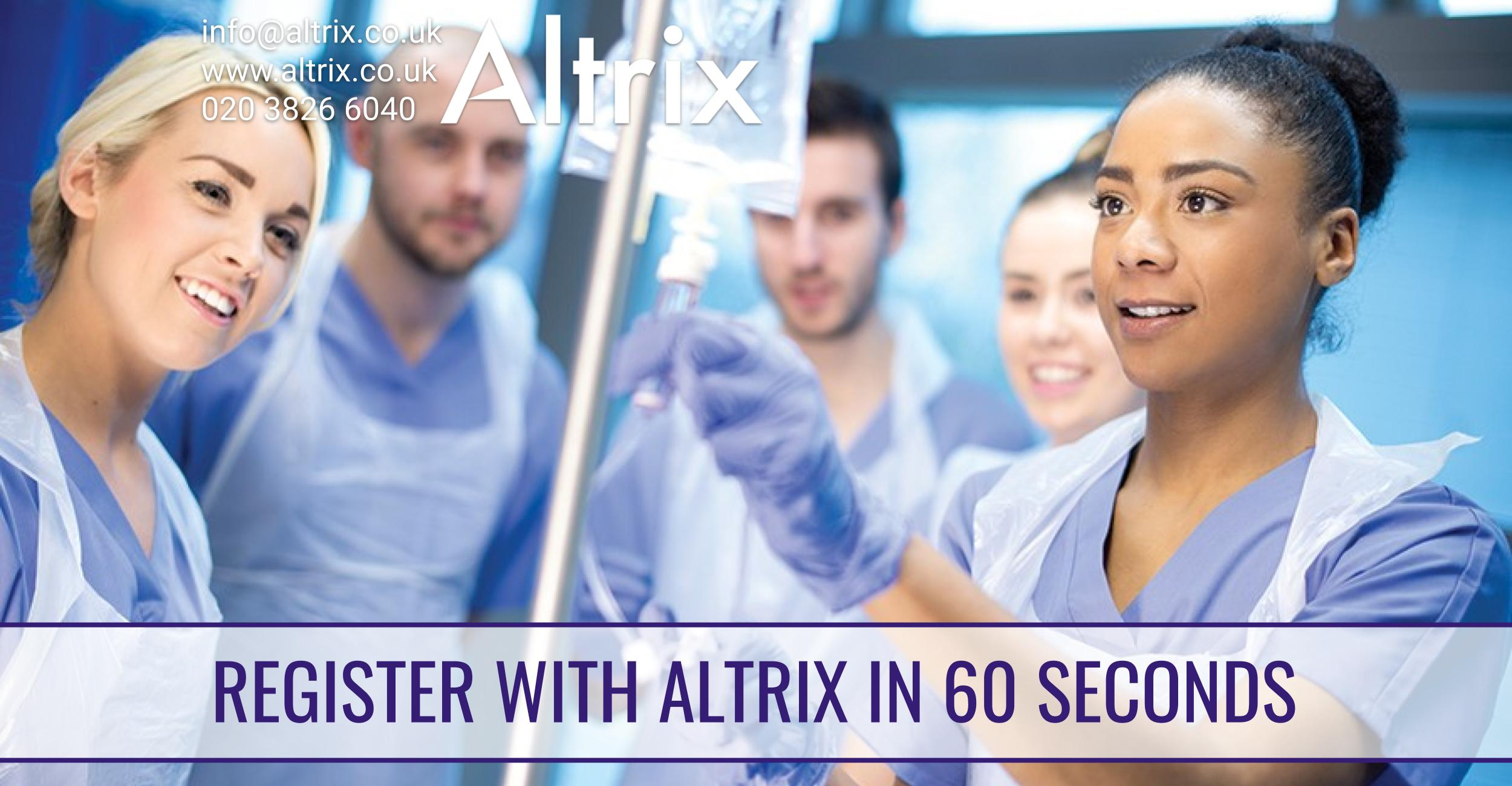 register with Altrix