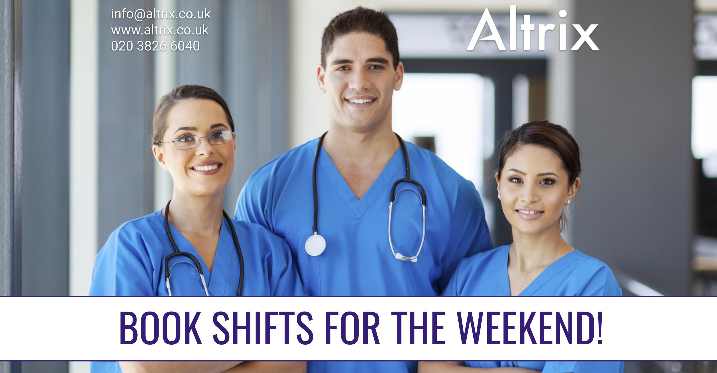 agency nurse jobs shifts