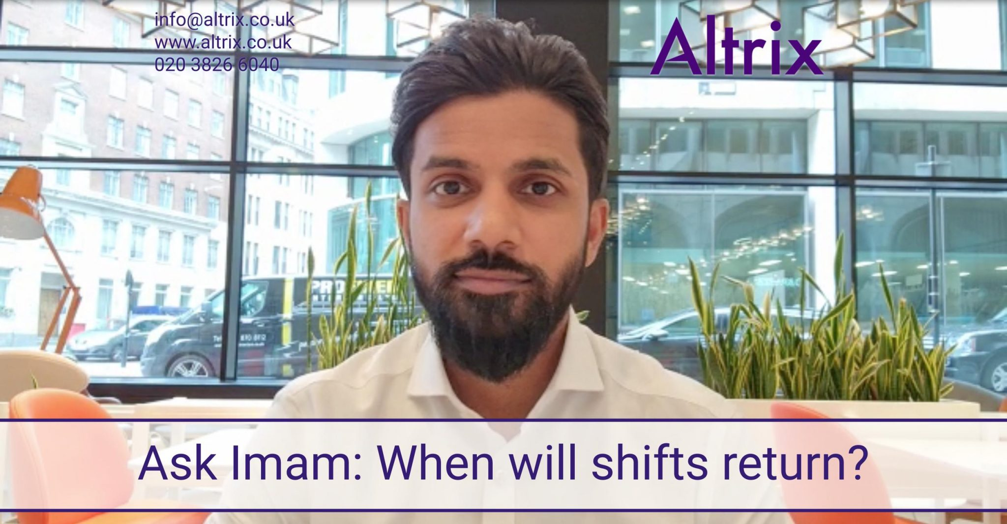 ask altrix low volume of shifts increase