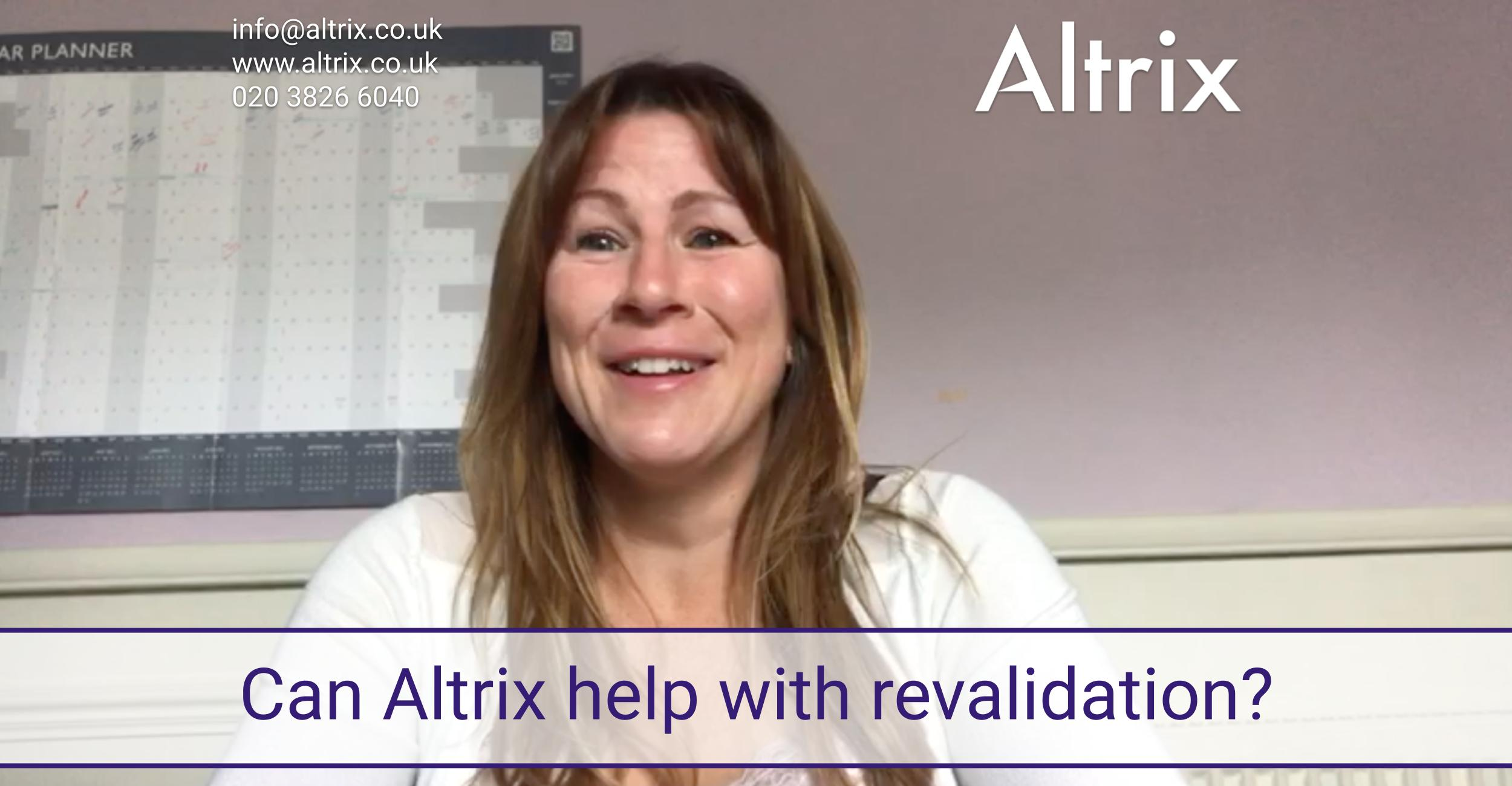 How does Altrix Nursing Agency support NHS Agency Nurses with revalidation